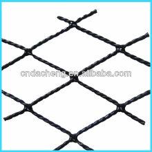 Tipos de fibra de alta tenacidad de plástico envuelto retorcido red para la cría de jaulas