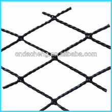 Tipos de rede de alta tenacidade em plástico torcido rede de pesca para criação de gaiolas