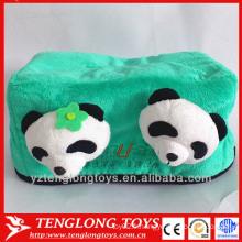 Housse de caisse de tissu personnalisée en peluche