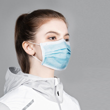 Masque chirurgical jetable en tissu de gaze non tissé 3 plis