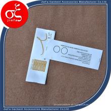 Etiqueta feita sob encomenda por atacado da impressão do logotipo do tipo, etiqueta impressa material da fita
