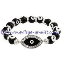 Black Evil Eye Stretch Bracelet