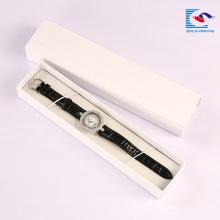 Caixa de empacotamento do relógio luxuoso feito sob encomenda da correia do logotipo do papel do cartão do retângulo de Sencai com espuma