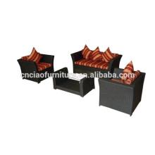 Todo o sofá do Rattan da mobília do jardim da forma de Foshan da estação