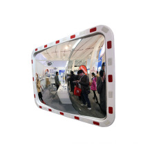 KL 4060 Outdoor Rectangular Factory Convex Traffic Mirror with Reflective Frame, Convex_Mirrors/