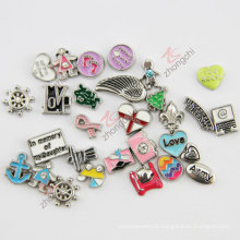 Zinc Alloy Floating Locket Charms Wholesale (FC)