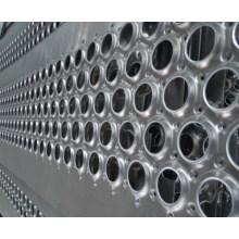 Feuille métallique perforée plate en acier inoxydable, maillage métallique perforé