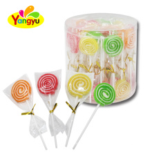 Sour and Sweets colorful swirl soft jelly lollipop