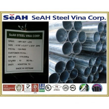 80DN (88.9mm) Tubo GI galvanizado BS 1387, BS EN, JIS G 3452, ASTM A53 - Tuberías de acero SeAH de Corea fabricadas en Vietnam