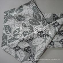 Tela del telar jacquar del chenille con hoja patrón para la decoración casera
