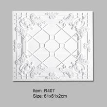 Azulejos de techo de poliuretano de 61x61 cm para decoración de interiores