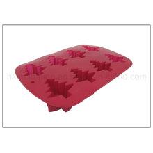 Árbol de Navidad en forma de molde de torta de silicona (RS14)