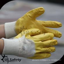 SRSAFETY Interlock liner 3/4 высококачественная желтая нитриловая перчатка / перчатка с нитриловым покрытием