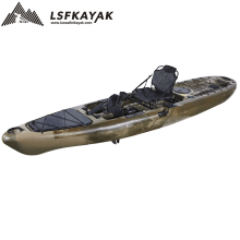 China OEM wholesale ocean boat motor single angler fishing kayak pedal drive with aluminum frame seat and kayak accessories
