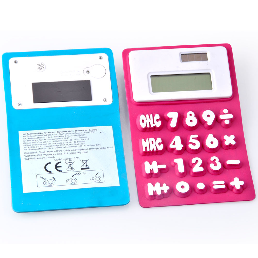 Colorful Flexible Silicone Calculator with Magnet