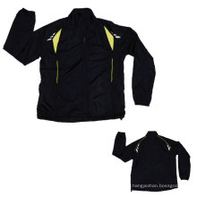 Yj-3003 Black Polyester Sports Sporty Sport Jacket for Men