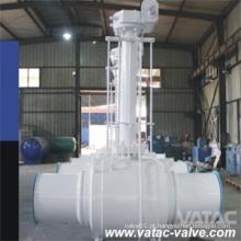 API 6D Bw estendida caixa de engrenagens Válvula de esfera soldada de aço forjado completo (Q61F)
