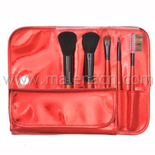 Low Price 5PCS Makeup Brush with Red Cosmetic Bag