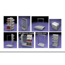 Двухсторонний Дисплей металла торговое оборудование для галстуков ремни и одежду (одежда-1124)