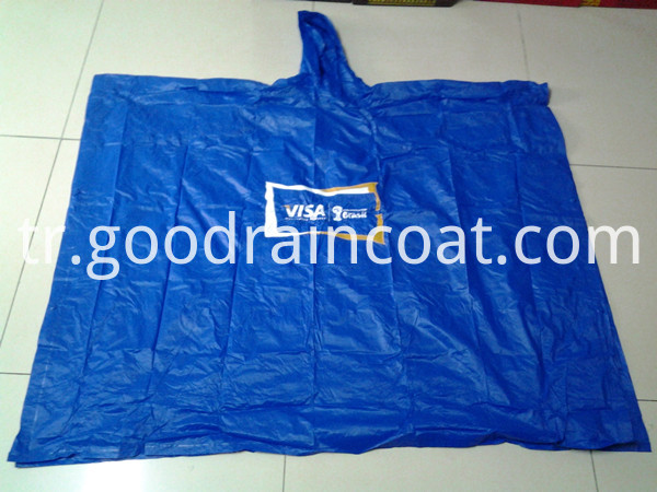 blue raincape