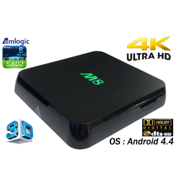 Smart Android TV Box with Amlogic S802, 2GB, 8GB Quad Core, Dts, Dolby, 4k Video M8 Ott TV Box Internet Google Android 4.4 TV Set Top Box with Bluetooth