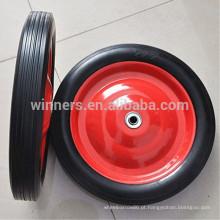 """Roda de borracha maciça da roda do carro de 12 """"x 2"""" pneus / roda de borracha contínua"""