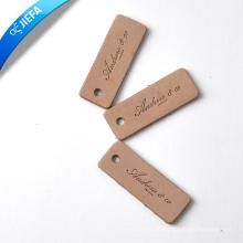 Etiqueta colgante y etiqueta de cuero real personalizada