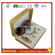 Presente de óculos de sol com relógio para presente feminino