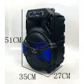 ALP-1201 Professional Outdoor Party 12 Inch Woofer Karaoke Tv Loud Trolley Sound Speaker With LED Light