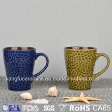 Special Shape Color Glazed Ceramic Mug