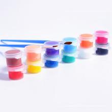 Fábrica de venda de 3 ml 6-strip potes atacado tintas acrílicas
