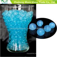 Blue Glitter Crystal Soil Water Beads Centros de mesa Decoraciones de la boda