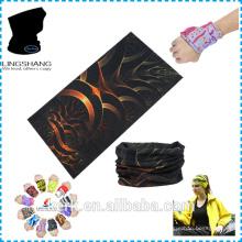 100% poliéster Bandana promocional mais popular barata personalizada tubo bandana bandana multifuncional