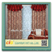 Moda nuevo diseño útil ningbo fabricante suave tela por mayor de cortinas