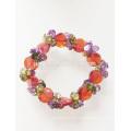 Fashion Bling Colorful Elastic Zircon Beaded Bracelet
