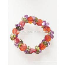 Mode Bling bunte elastische Zirkon Perlen Armband