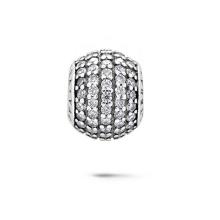 La joyería cristalina redonda rebordea la joyería de plata 925