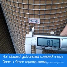 Maillage galvanisé soudé en maille carrée - Galvanisé à chaud après soudage