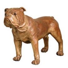 Sculpture animale de taille de la vie de haute qualité Bronze Statue de bouledogue