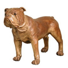 High quality life size animal sculpture Bronze Bulldog Statue