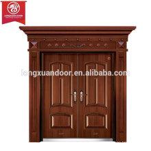 Puertas de entrada personalizadas, doble puerta de fuego de cobre oscilante