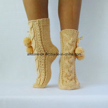 Factory Custom Hand Knit Winter Boot Slipper Socks