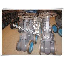 Válvula de portão de cunha sólida de aço carbono forjado (300CL-2-1 / 2inch)