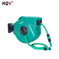 A18 PP plastic auto rewind swivel garden water hose reel with quick connector
