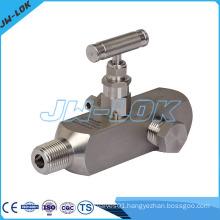 High pressure gas valve, level gauge valve