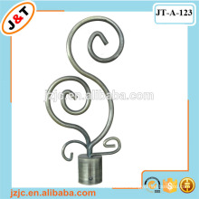 16/19mm extendable curtain rod with twisted elegant finial design