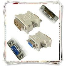 VGA PARA DVI ADAPTADOR / DVI-D MACHO PARA VGA CONVERSOR ADAPTADOR FEMININO PARA HDTV LCD