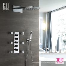 Ensemble de robinet de douche thermostatique en laiton pour robinet de salle de bains