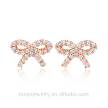 Ensemble bijoux en or 925 en argent sterling mini joli bowknot en or
