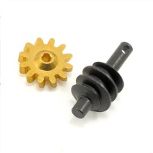 Custom Motorbike Worm Drive Gear och Pinion Shaft
